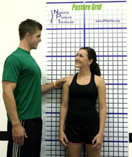 National Posture Institute Posture and Body Alignment Grid with Grommets